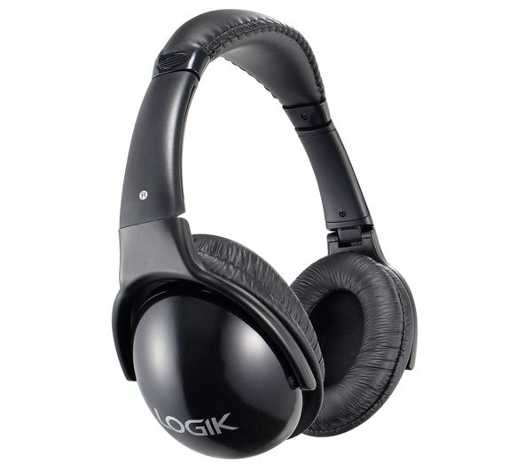 LOGIK LHHIFI10 Headphones - Black, Black
