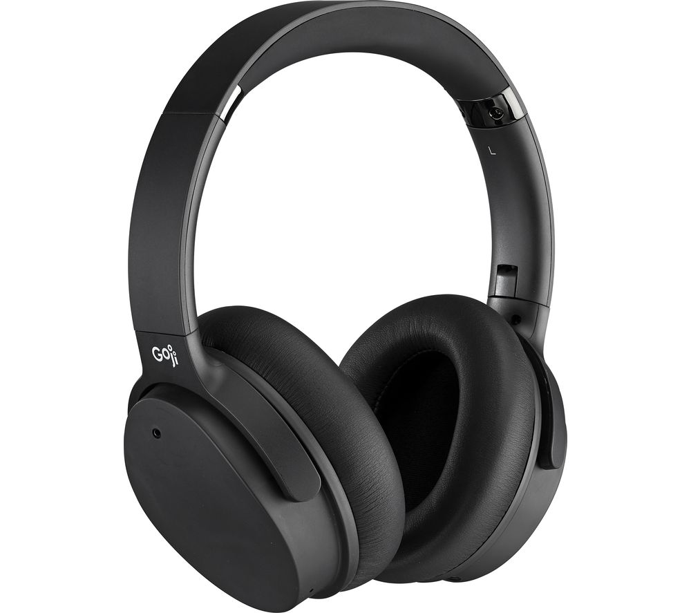 GOJI GTCNCPM21 Wireless Bluetooth Noise-Cancelling Headphones - Black, Black