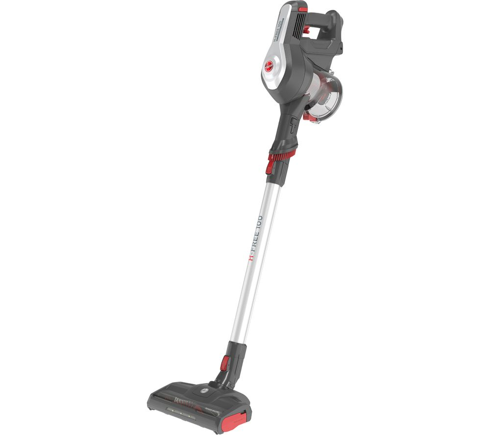 HOOVER H-FREE 100 Home HF122GH Cordless Vacuum Cleaner - Grey, Silver & Red, Grey
