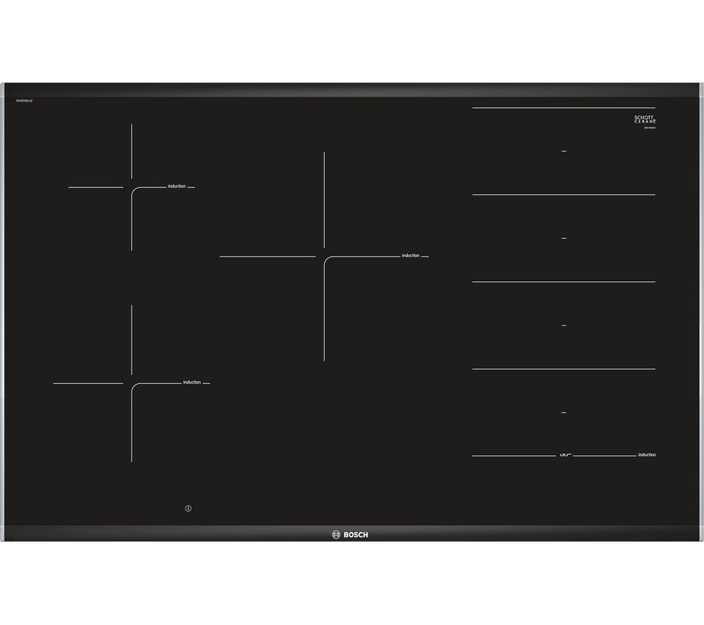 Serie 8 PXV875DV1E Electric Induction Hob - Black, Black