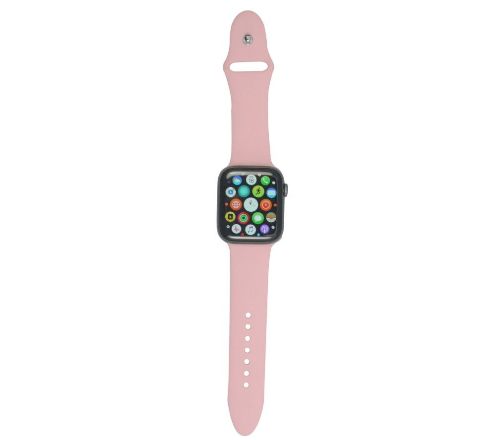 XQISIT Apple Watch 42 / 44 mm Silicone Strap - Pink, Small, Pink