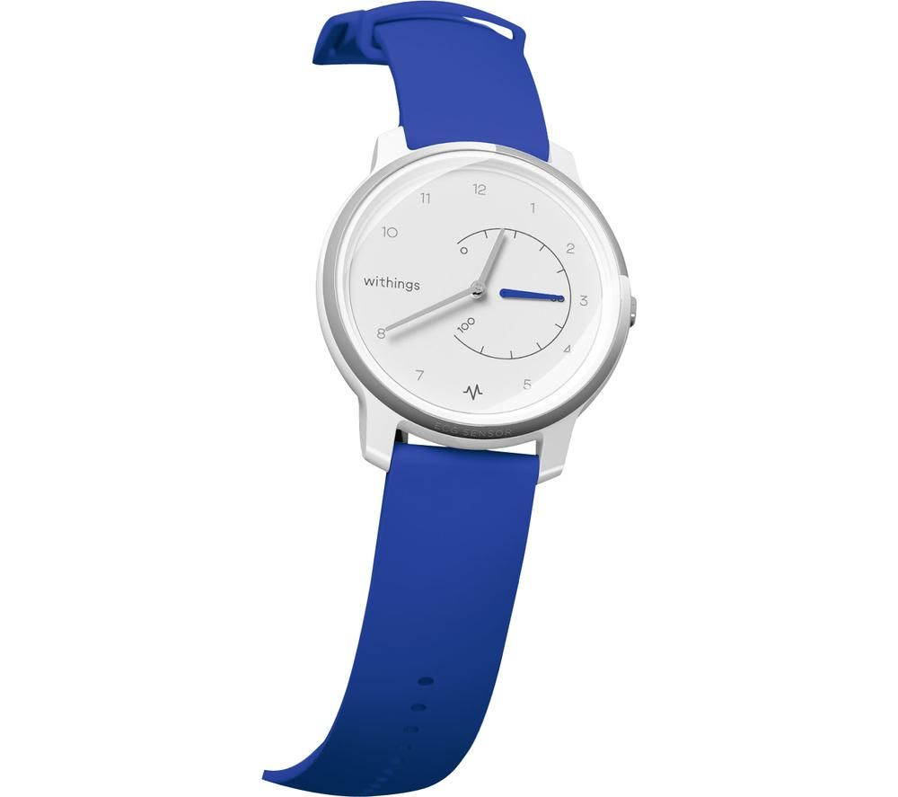 WITHINGS Move ECG Activity Tracker - Blue & White, Blue