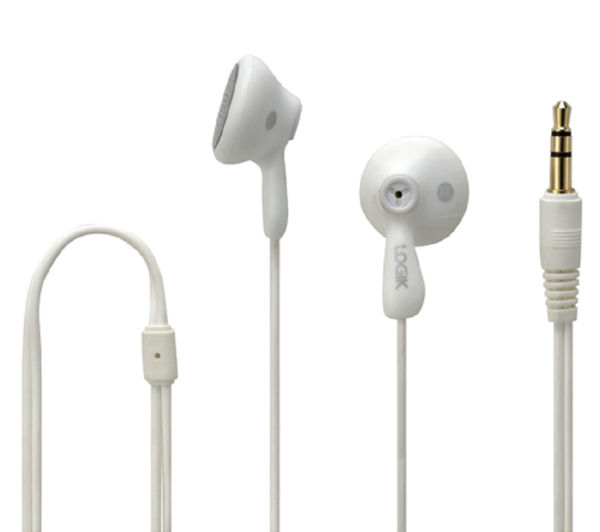 LOGIK Gelly LGELWHT16 Headphones - White, White