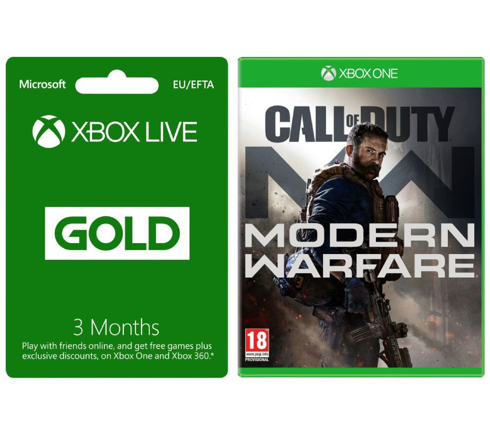 XBOX ONE Call of Duty: Modern Warfare (2019) & Xbox LIVE Gold Membership 3 Month Subscription Bundle, Gold