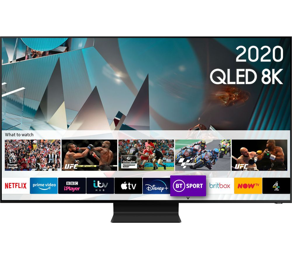 SAMSUNG QE82Q800TATXXU  Smart 8K HDR QLED TV with Bixby, Alexa & Google Assistant