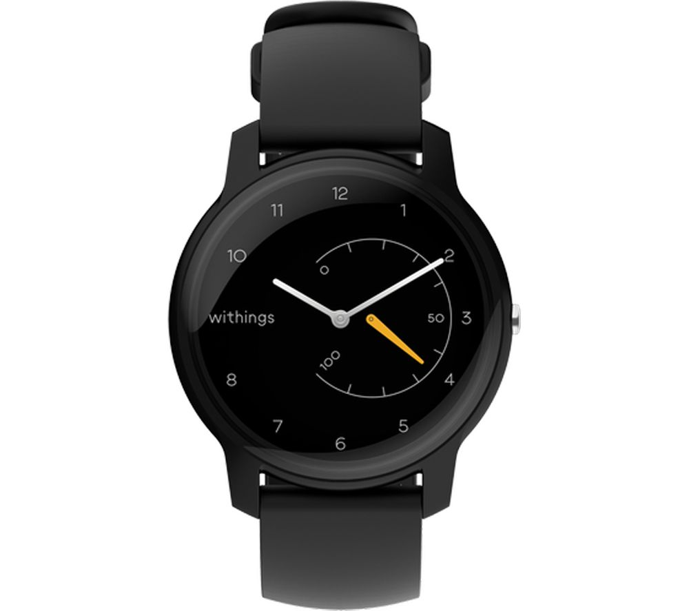 WITHINGS Move Activity Tracker - Black & Yellow, Black