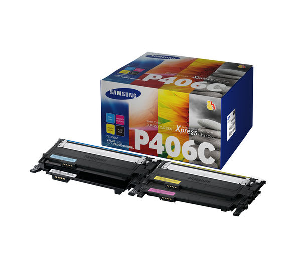 SAMSUNG P406C Cyan, Magenta, Yellow & Black Toner Cartridges - Multipack, Cyan