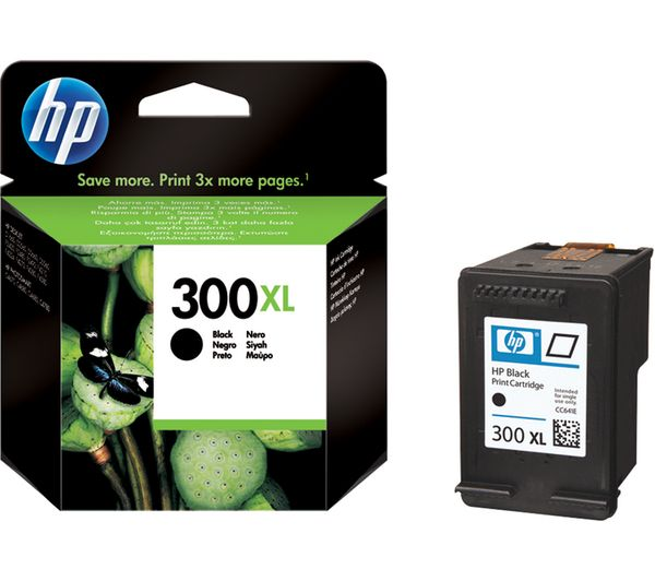 HP 300XL Black Ink Cartridge, Black