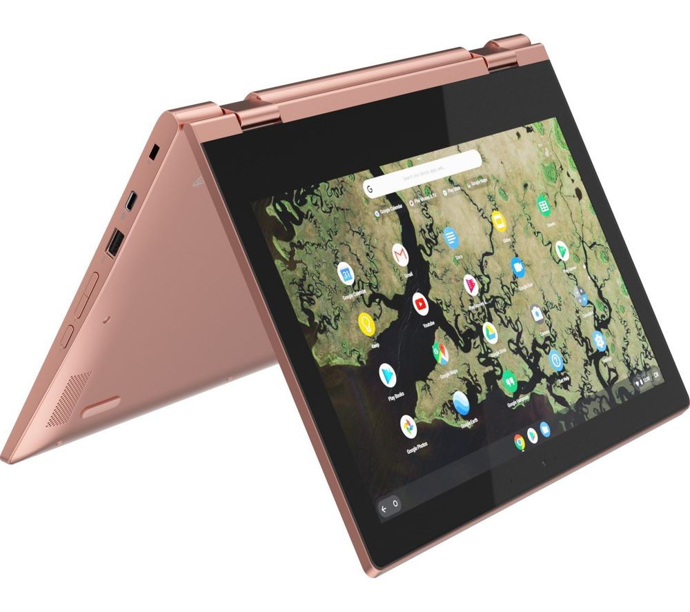 "LENOVO C340-11 11.6"" Intel®� Celeron� 2 in 1 Chromebook - 64 GB eMMC, Pink, Pink"
