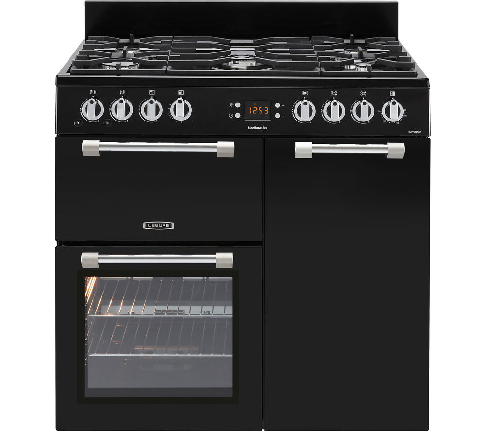 LEISURE Cookmaster CK90G232K Gas Range Cooker - Black & Chrome, Black