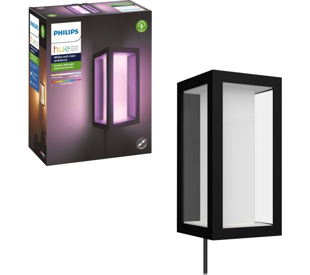 PHILIPS Hue Impress White & Colour Ambiance Outdoor Wall Lamp, White