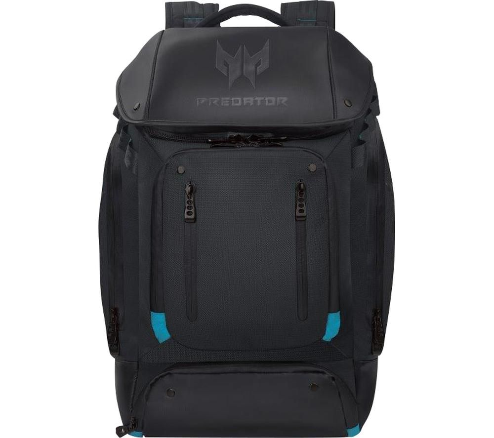 "ACER Predator Gaming Utility 17"" Laptop Backpack - Black & Teal, Black"